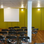 Le Plateau 25 : Studio 1, en configuration conférence.