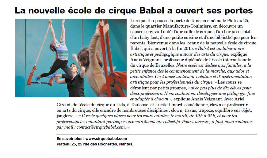Revue de presse : Nantes Passion n° 263 (mai 2016)